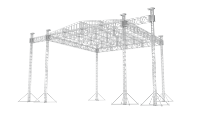 45 x 45 Ladder roof with PA wings