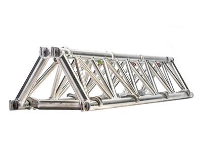 Folding triangle truss 14 spigoted